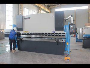 Machine à cintrer en tôle 125T 6mm, presse plieuse hydraulique WC67Y-125T 3200 pour la Chine