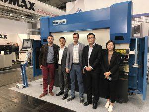 Accurl a participé au Salon international de la machine-outil de Hanovre en Allemagne en 2017