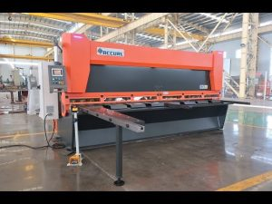 Râteau variable principal avec cisaille guillotine hydraulique CNC MS8-10x4000mm