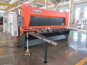 Cisaille guillotine hydraulique en acier en tôle QC11y K-4X2500 pour la coupe de fer en aluminium