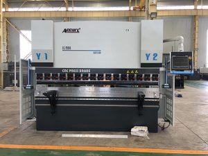 We67k cnc hydraulique fer feuille presse plieuse